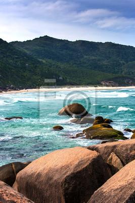 Schöner Strand Süden Brasiliens, Praia Mole, Florianópolis