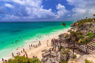 Poster Schöner Strand von Tulum in Mexiko