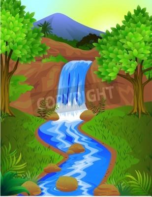 Poster Schöner Wasserfall