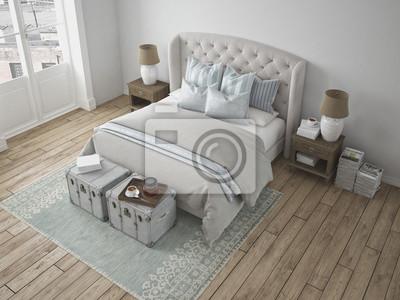 Poster: Schönes schlafzimmer