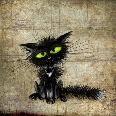 Poster Schwarze Katze