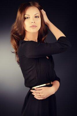 Poster schwarzen Kleid