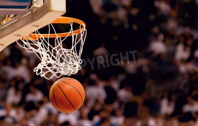 Poster Scoring the winning points at a basketball game