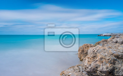 Poster Sea scape,Long exposure shot.Sea scape in West Palm Beach, Florida,beach