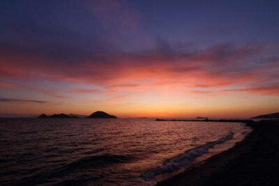 Poster Seaside town of Turgutreis and spectacular sunsets