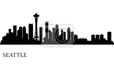 Seattle Skyline Silhouette Hintergrund