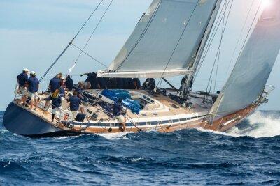Poster Segelboot Segeln in Regatta