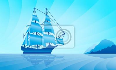 Segelschiff in der Skyline