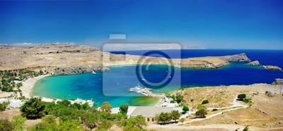 Sehen Sie bei Lindos Bay - Insel Rhodos, Griechenland
