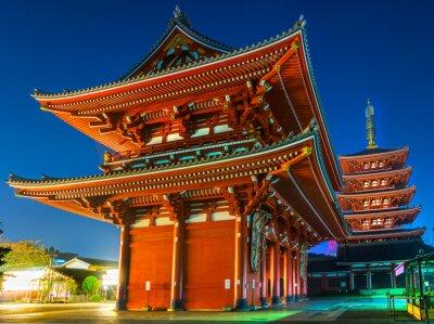 Poster Senso-ji-Tempel in Asakusa, Tokio, Japan.