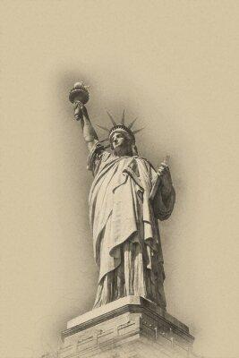 Poster Sepia getönten künstlerischen Bild der Freiheitsstatue