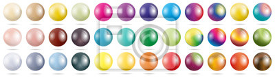 Poster set colored spheres