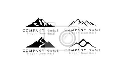 Poster set logo mountain
