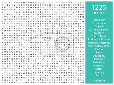 Poster Set of 1225 vector icons