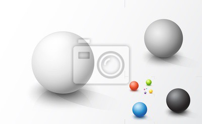Poster Set of colored spheres