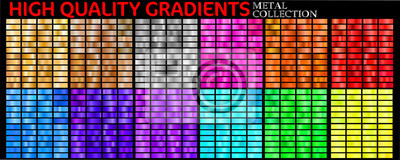 Poster Set of colorful gradients