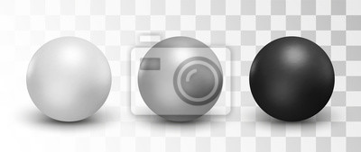 Poster Set of vector spheres and balls on a white background