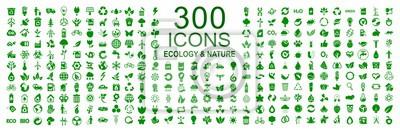 Poster Set von 300 Ökologie Symbole - Stock Vektor