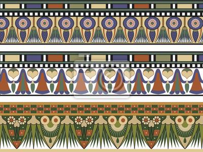 Set von drei ägyptischen Grenze, Vektor-Illustration