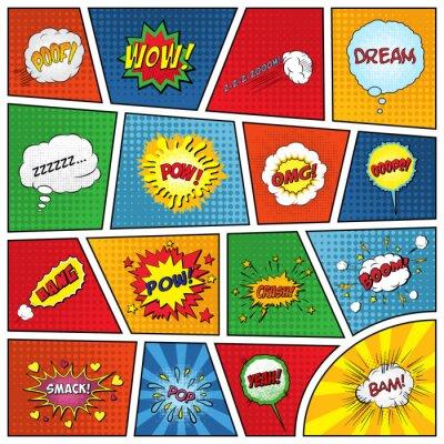 Poster Set von komischen Soundeffekten