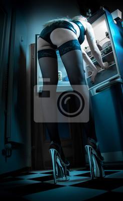 HighheelsDessous PosterSexy Frau In Und Langbeinige Männertraum EWH2I9D