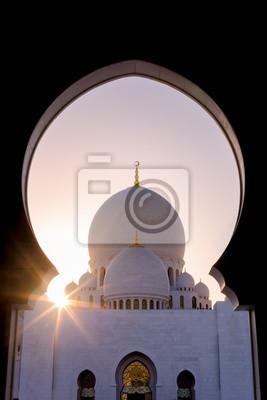 Poster Sheikh Zayed Moschee Starburst - UAE