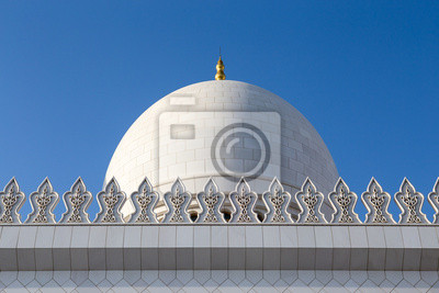 Poster Sheikh Zayed Mosque Dome in den Vereinigten Arabischen Emiraten