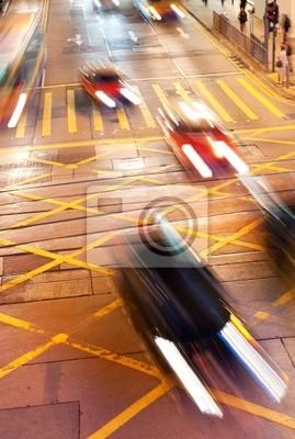 Poster Sich schnell bewegende Autos