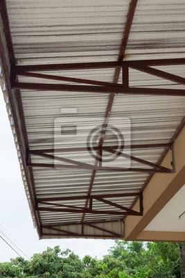 Silberfolie Isolierung Hitze Auf Decke Dach Haus Wandposter Poster