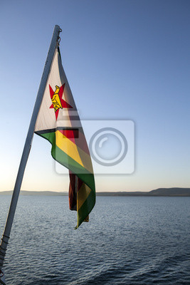 Simbabwe-Flagge