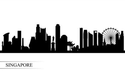 Singapore city skyline silhouette background