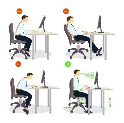 Sitzhaltung Satz Richtige Und Falsche Positionen Gesunder