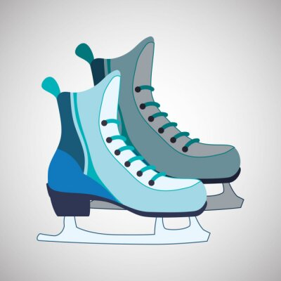 Poster Skaten-Ikonenentwurf