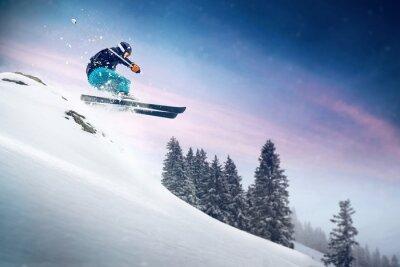 Poster Ski Jump