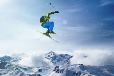 Poster Skier jumps