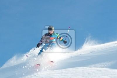 Poster Skikid carvt Schneewächte