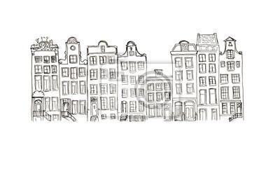 Skizze Stadthäuser isoliert