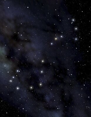 Poster Skorpion Sternbild am Nachthimmel