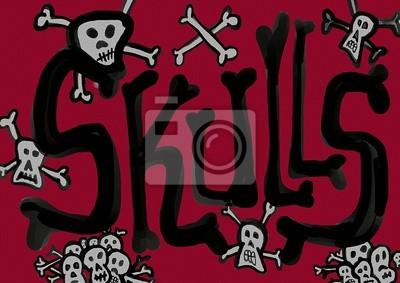 Skulls Leinwand