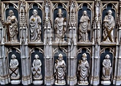 Skulpturen dans la Cathédrale de Roskilde au Danemark HDR