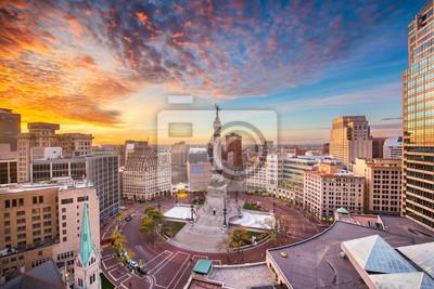 Poster Skyline von Indianapolis, Indiana, USA