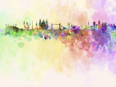 Skyline von London in Aquarell-Hintergrund
