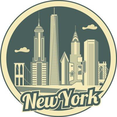 Poster Skyline von Manhattan
