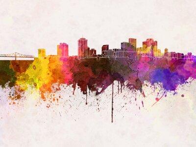 Skyline von New Orleans in Aquarell-Hintergrund