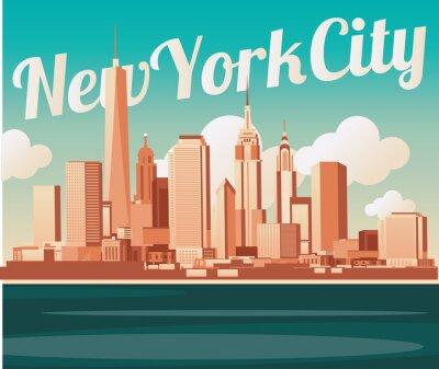 Poster Skyline von New York