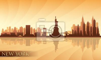 Skyline von New York detaillierte Silhouette