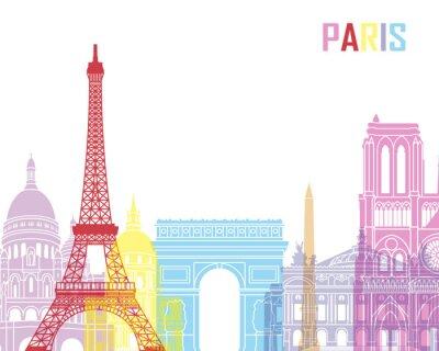 Poster Skyline von Paris Pop-