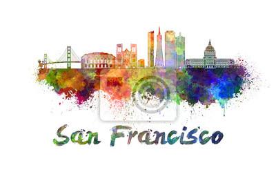 Skyline von San Francisco im Aquarell