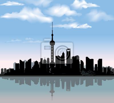 Skyline von Shanghai. Urbun Stadtbild