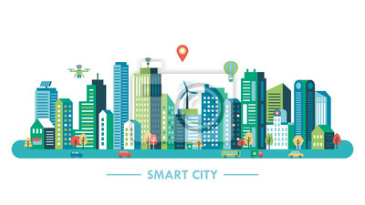 Poster Smart-Stadt-Konzept